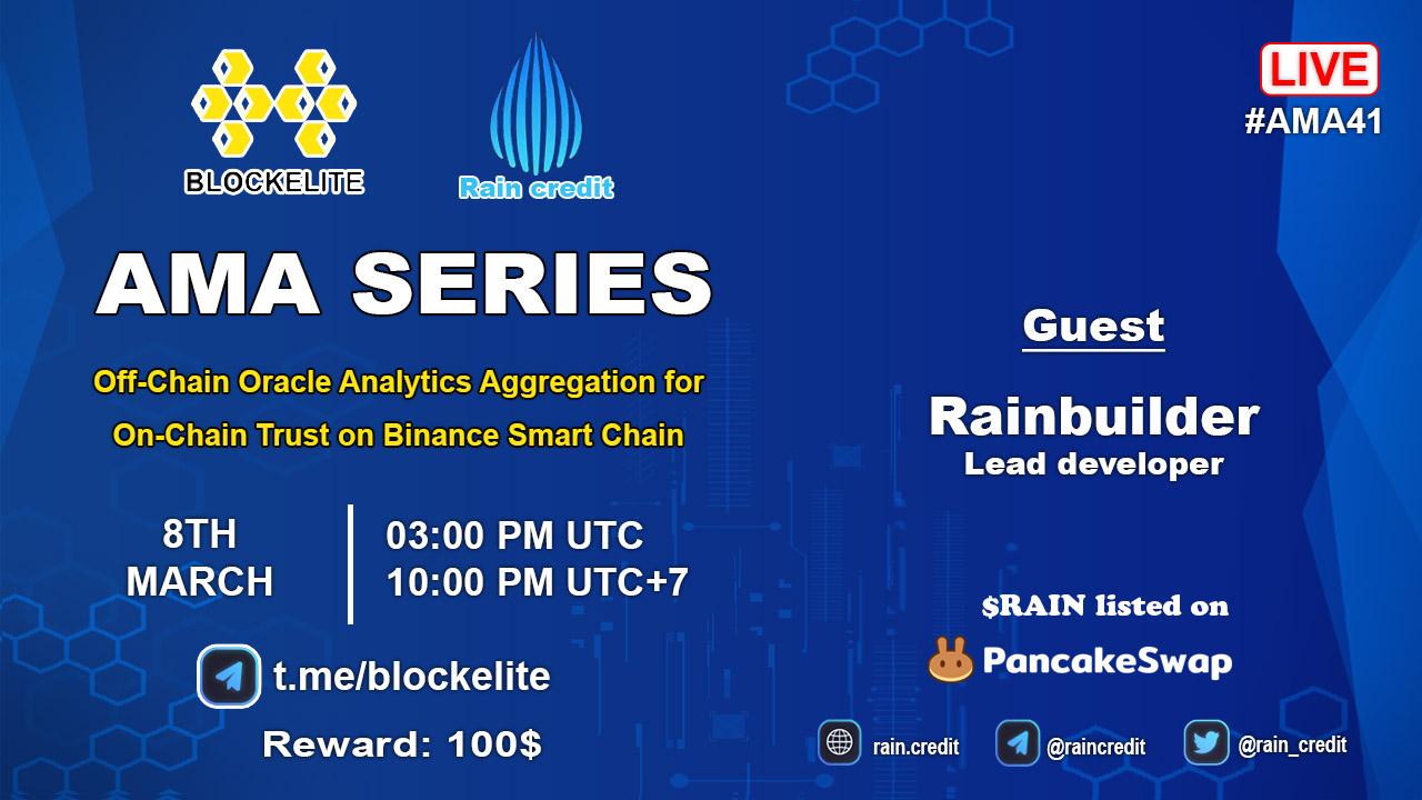 Blockelite X Rain Credit AMA Recap